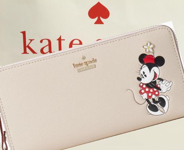 【レターパック・送料無料】 ケイトスペード&ミニーマウス コラボ  kate spade new york for minnie mouse lacey ミニー レディス長財布 pwru5875
