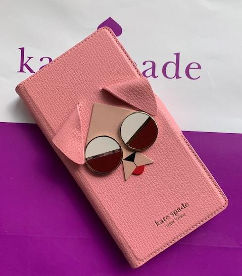 【即発送】kate spade ケイトスペード アイフォンケース 手帳型 アイフォンX XS モッド ドッグ フォリオ - X & XS 犬 ピンク 8ARU6214-662