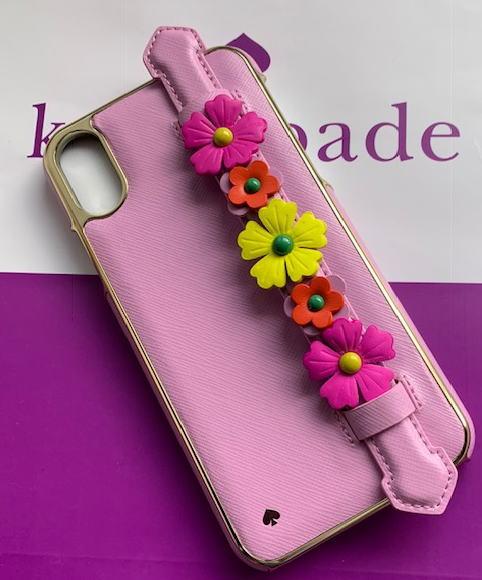 ケイトスペード アイフォンケース iPhone XR レターパック 送料無料限定セール中 送料無料 Kate ハンドストラップ 新発売 spade スタンド 即発送 8ARU6122-974 フローラル