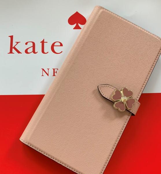 ケイトスペード アイフォンケース X / XS iPhone X / XS ワンポイント フラワー flower hardware wrap folio iPhone case ピンクベージュ WIRU1126 【即発送】