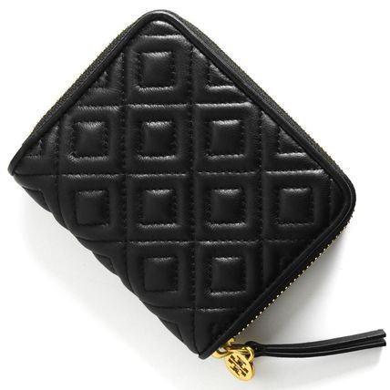 【日本在庫・即発送】トリーバーチ  TORY BURCH ダイヤステッチ 小さい財布 ミニ財布 レザー ブラック 黒 43558