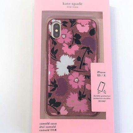 ケイトスペード アイフォンケース X XS iPhone X/iPhone Xs 対応 キラキラピンクラメ 花柄 ハードケース WIRU1175【即発送】