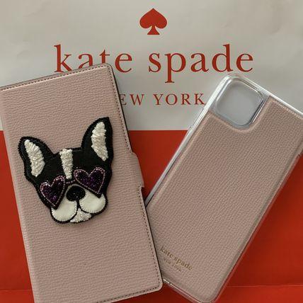ケイトスペード アイフォンケース Phone11pro 対応 レターパック 送料無料 Kate spade 手帳型 iphone ピンク かわいい 2way マート フレンチブルドッグ 11pro 手帳型と単品使用可 新品未使用正規品 8ARU6540 犬 可愛い