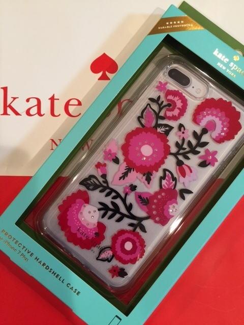 【即発送・日本在庫】ケイトスペード Kate spade iPhone7plus iPhone8plus ケース 8aru0897 キラキラ jeweled garland アイフォン7プラスケース
