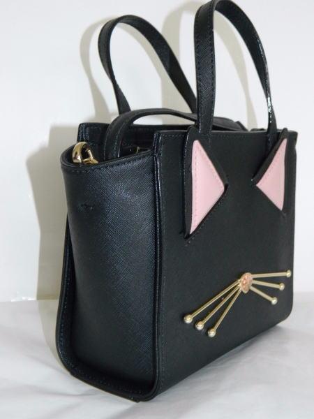 Up Jazz ハンドバック spade 黒 Kate Cat Hayden Bag WKRU4657 黒猫 Mini Crossbody Purse 【国内在庫・即発送】ケイトスペード Things 斜めがけ可