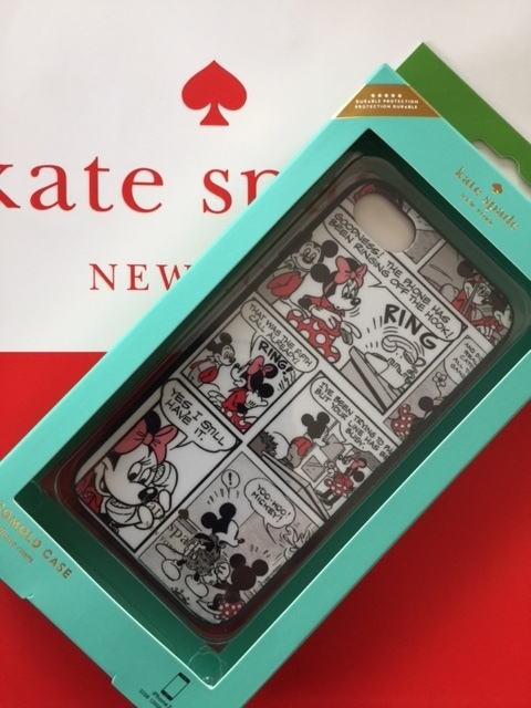 【即発送・日本在庫】ケイトスペード Kate spade iPhone7/iPhone8用ケース ケイトスペード×ディズニー/ミニーコミックIPHONE 7/8ケース 8ARU2000