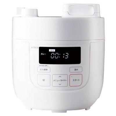siroca シロカ 電気圧力鍋 送料無料(一部地域を除く) ホワイト 時間指定不可 SP-D121 W SPD121W