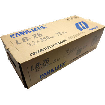 神戸製鋼 溶接棒 LB-26V 3.2Φ 20Kg 1箱(5kg X 4箱入り)【LB26V】注意 写真は代表画像です。ご了承下さい。