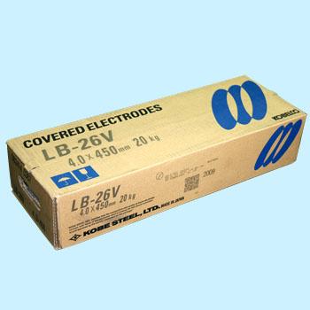 神戸製鋼 溶接棒 LB-26V 4.0Φ 20Kg 1箱(5kg X 4箱入り)【LB26V】写真は代表画像になります。ご了承下さい。