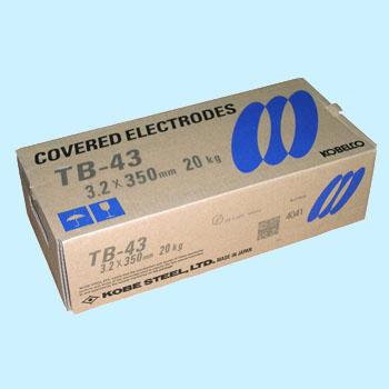 神戸製鋼 溶接棒 TB-43 4.0Φ 20Kg 1箱(5kg X 4箱入り)【TB43】写真は代表画像になります。ご了承下さい。