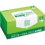 【送料無料】クレシア カウンタークロス 厚手タイプ グリーン 65312 469-8738