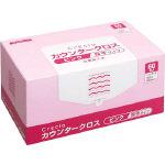 【送料無料】クレシア カウンタークロス 厚手タイプ ピンク 65322 470-5165