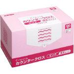 【送料無料】クレシア カウンタークロス 薄手タイプ ピンク 65422 470-5190