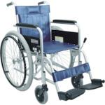 【送料無料】【取寄せ品】カワムラ スチール製車椅子 座幅42CM 754-6262 KR801N ※代引き不可