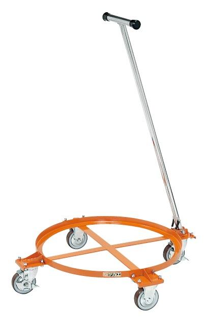 【代引き不可】 円形ドラム台車 DR-1TM
