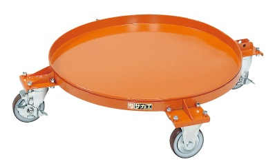 【代引き不可】 円形ドラム台車 DR-4S