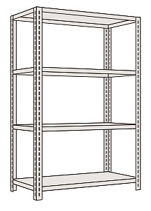 【代引き不可】 軽量開放型棚ボルトレス KFF1744