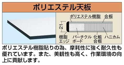 【代引き不可】 軽量用天板 KK-1575PTCGL