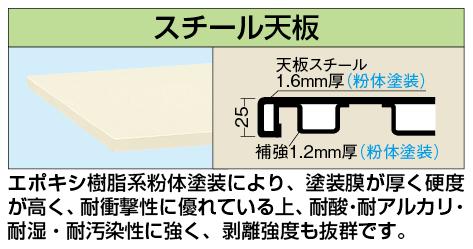 【代引き不可】 中量用天板 KT-1575STCI