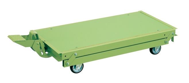 【代引き不可】 作業台オプションペダル昇降台車 KTW-157DPS