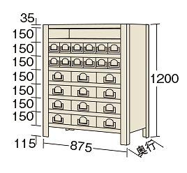 【代引き不可】 物品棚KW型 KW8118-24
