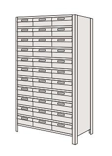【代引き不可】 物品棚LEK型樹脂ボックス LEK1110-30T