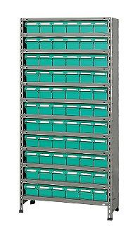 【代引き不可】 物品棚LEK型樹脂ボックス LEK1112-66T