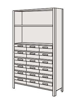 【代引き不可】 物品棚LEK型樹脂ボックス LEK1119-18T