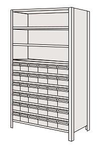 【代引き不可】 物品棚LEK型樹脂ボックス LEK1120-30T