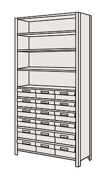 【代引き不可】 物品棚LEK型樹脂ボックス LEK2111-18T