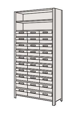 【代引き不可】 物品棚LEK型樹脂ボックス LEK2113-30T