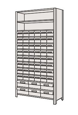 【代引き不可】 物品棚LEK型樹脂ボックス LEK2113-54T