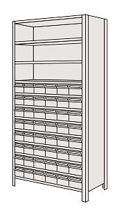 【代引き不可】 物品棚LEK型樹脂ボックス LEK2122-48T