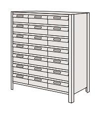 【代引き不可】 物品棚LEK型樹脂ボックス LEK8118-21T