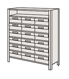【代引き不可】 物品棚LEK型樹脂ボックス LEK8128-18T