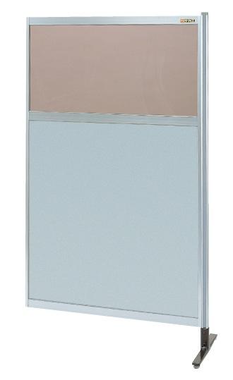 【代引き不可】 パーティション 透明カラー塩ビ(上) アルミ板(下)タイプ(連結) NAK-35NR
