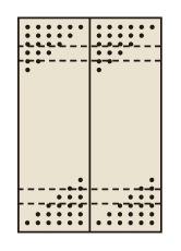 【代引き不可】 パンチングウォールシステム PO-302LN