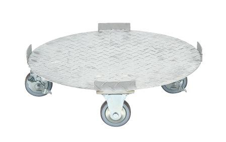 【代引き不可】 ステンレス 円形ドラム台車 SDR-5