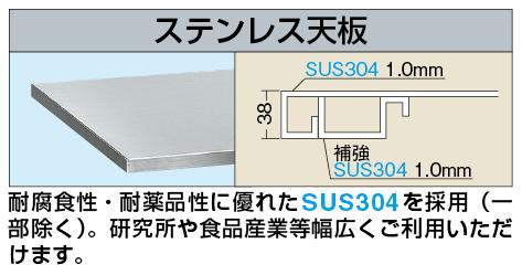 【代引き不可】 ステンレス天板 SU3-1260TC