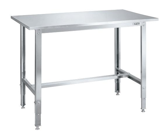 【代引き不可】 ステンレス高さ調整作業台 カブセ天板仕様 SUT4-096CLC