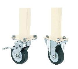 【代引き不可】 作業台用オプション移動脚 TKK-100CSI
