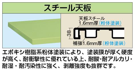 【代引き不可】 重量用天板 W-1280STC