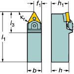 サンドビック T-Max P ネガチップ用シャンクバイト MTENN2525M22M1 [132-7071] 【TA式旋削工具】[MTENN 2525M 22M1]