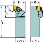 サンドビック T-Max P ネガチップ用シャンクバイト MWLNR3225P08 [127-9670] 【TA式旋削工具】[MWLNR 3225P 08]