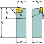 サンドビック T-Max P ネガチップ用シャンクバイト PCBNL2525M12 [136-8389] 【TA式旋削工具】[PCBNL 2525M 12]
