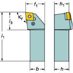 サンドビック T-Max P ネガチップ用シャンクバイト PCLNL1616H12M [136-8435] 【TA式旋削工具】[PCLNL 1616H 12-M]