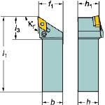 サンドビック T-Max P ネガチップ用シャンクバイト PDJNL2525M15S04 [226-0956] 【TA式旋削工具】[PDJNL 2525M 15-S04]