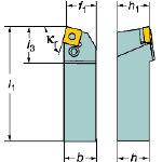 サンドビック T-Max P ネガチップ用シャンクバイト PSBNR2525M12 [136-8974] 【TA式旋削工具】[PSBNR 2525M 12]