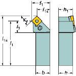サンドビック T-Max P ネガチップ用シャンクバイト PSSNL2525M12 [136-9237] 【TA式旋削工具】[PSSNL 2525M 12]