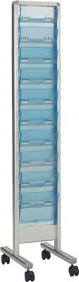 【メーカー直送 代引不可】TRUSCO パンフレットスタンド A4サイズ対応 垂直1列10段 TAP110S [329-4528] 【パンフレットスタンド】[TAP-110S]